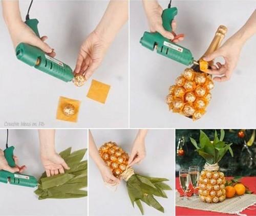 butelka-ananas na prezent