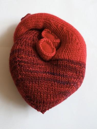 anatomiczne serce z włóczki