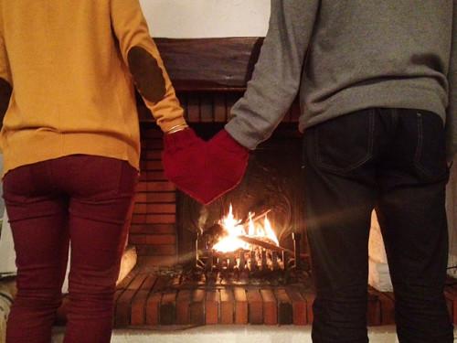 serduszkowa rękawica dla zakochanych