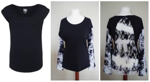 collage koszulka zalando czarna
