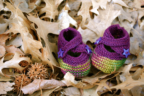 buciki dziecięce na drutach